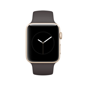 APPLE - Watch Series 2: 42mm Gold Aluminium Case with Cocoa Sport Band