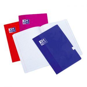 OXFORD - Caderno Agrafado Oxford Colours Capa Cartao: A4 Quadriculado: 90gr: 48 Folhas: 4 Cores Azul: Preto: Laranja e Rosa (min. 10 un.)