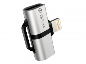 DEVIA - Smart Dual Lightning Adapter (Prateado)