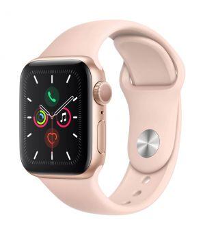 APPLE - Watch Series 5 GPS: 40mm Dourado com Bracelete Desportiva Rosa-Areia