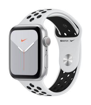 APPLE - Watch Nike Series 5 GPS: 44mm Prateado com Bracelete Desportiva Nike Platina Pura/Preto - S/M & M/L