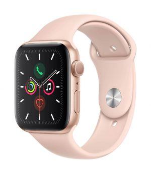 APPLE - Watch Series 5 GPS: 44mm Dourado com Bracelete Desportiva Rosa-Areia - S/M & M/L