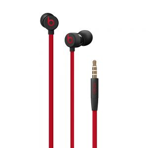 APPLE - Beats urBeats3 Earphones with 3.5mm Plug - The Beats Decade Collection - Defiant Black-Red