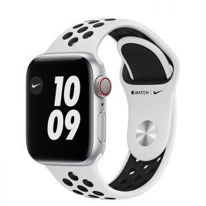 APPLE - Watch Nike SE GPS + Cellular 40mm Prateado com Bracelete Desportiva Nike Platina Pura/Preto