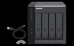 QNAP - 4-bay 3.5P SATA HDD USB 3.0