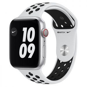 APPLE - Watch Nike SE GPS + Cellular 44mm Prateado com Bracelete Desportiva Nike Platina Pura/Preto