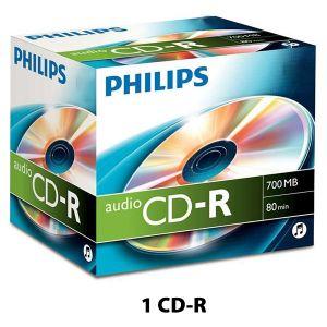 PHILIPS - CR7A0NJ10/00 CD-R 80MIN AUDIO - 1 CD APENAS