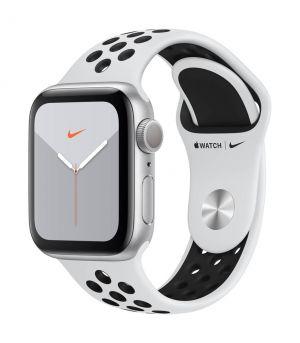 APPLE - Watch Nike Series 5 GPS: 40mm Prateado com Bracelete Desportiva Nike Platina Pura/Preto