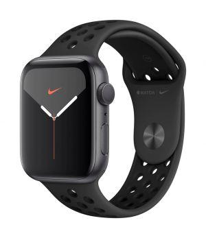 APPLE - Watch Nike Series 5 GPS: 44mm Cinzento Sideral com Bracelete Desportiva Antracite/Preto - S/M & M/L
