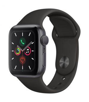 APPLE - Watch Series 5 GPS: 40mm Cinzento Sideral com Bracelete Desportiva Preta