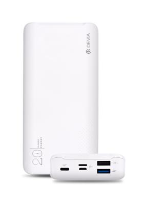 DEVIA - SmartSpeed PD Powerbank: 20.000mAh (White)