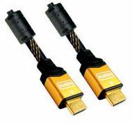 NANOCABLE - CABO HDMI V1.4 (ALTA VELOCIDADE / HEC) COM FERRITE: A/M-A/M: OURO: 1.0 M