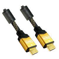 NANOCABLE - CABO HDMI V1.4 (ALTA VELOCIDADE / HEC) COM FERRITE: A/M-A/M: OURO: 1.8 M