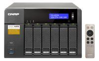 QNAP - NAS Tower 6Baias Celeron Braswell N3150 1.6GHz 4Core 4GB
