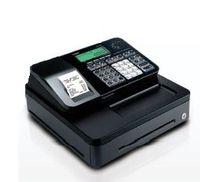CASIO - SE-S100-S-BK - Caixa registadora com Faturas simplificadas, LCD 2 linhas, Permite definição de série, até 2.000 PLUs, até 24 departamentos (2x12 directos), leitor Cartão SD (cartão não incluído), Papel térmico 1 rolo 57mm, Dimensões: 167x326x345mm