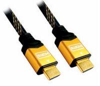 NANOCABLE - Cabo HDMI alta velocidade / HEC, A/M-A/M, dourado, 5.0m