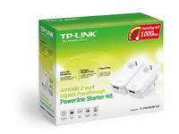 TP-LINK - AV1000 2-Port Gigabit Passthrough PowerLine Starter Kit