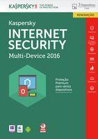 KASPERSKY - Internet Security Multi-Device 2016 3 Utilizadores Renov PT