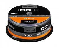 INTENSO - CD-R 700Mb 52X Printable Cake 25un.
