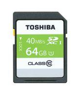 Toshiba SDXC UHS1, 64GB 64GB SDXC Class 10 cartão de memória
