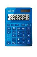 CANON - Calculadora LS-123K Azul - Visor de 12 dígitos grande com função de cálculo de taxas, Alimentação dupla