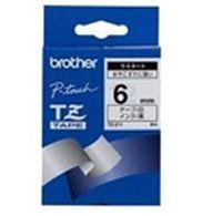 BROTHER - FITA 6MM BRANCO / PRETO