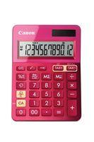 CANON - Calculadora LS-123K Rosa - Visor de 12 dígitos grande com função de cálculo de taxas, Alimentação dupla