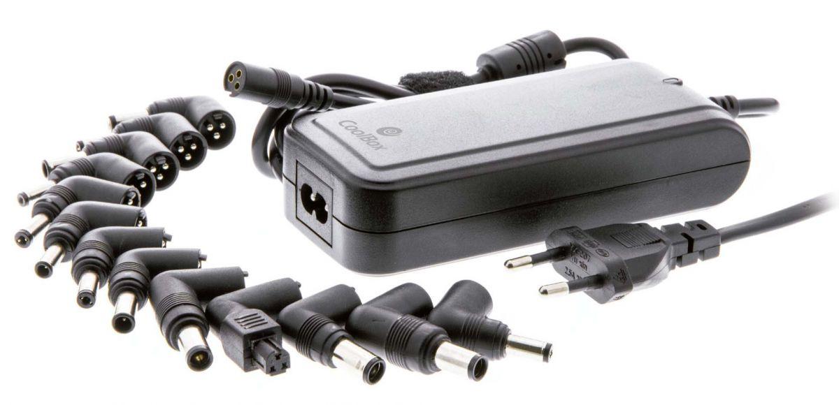COOLBOX - TRANSF. UNIVERSAL 90W, 15-24V, USB DE 2.1 AMP, 12 PONTAS