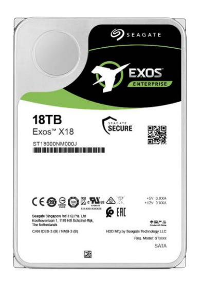 SEAGATE - HDD 18TB EXOS X18 7200RPM 256MB Ent. - ST18000NM000J