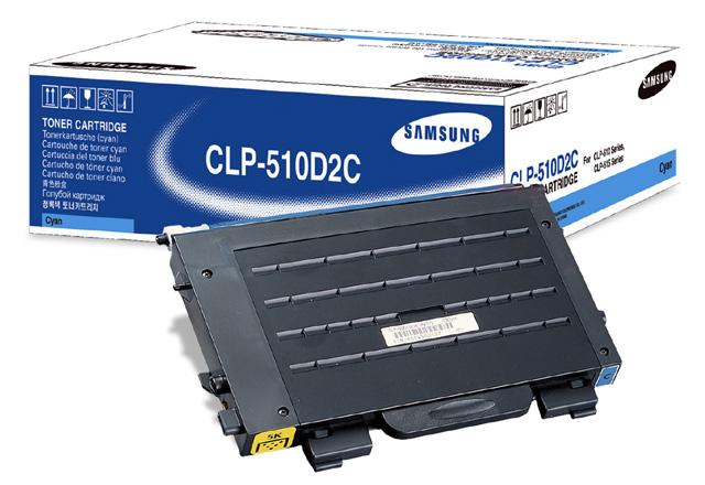 SAMSUNG - Toner Cyan para Impressora CLP510 / CLP510N / CLP515 Standard